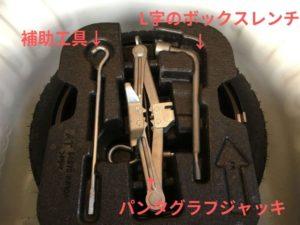 タイヤ交換で必要な工具の写真
